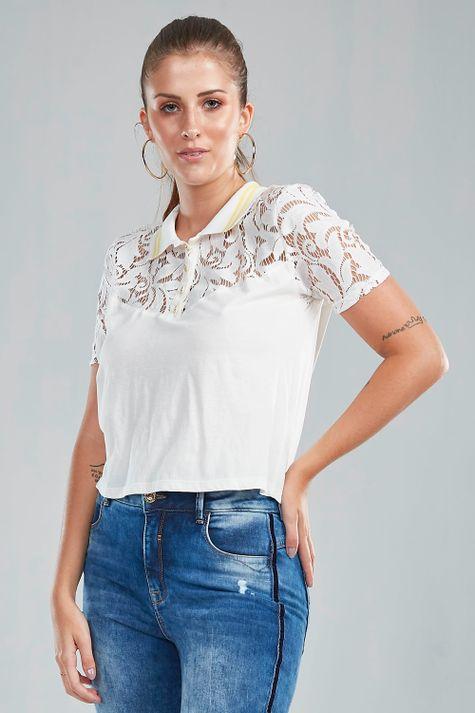 T-Shirt-Polo-Renda