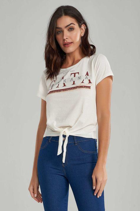 T-shirt-Gatabakana-Aplique