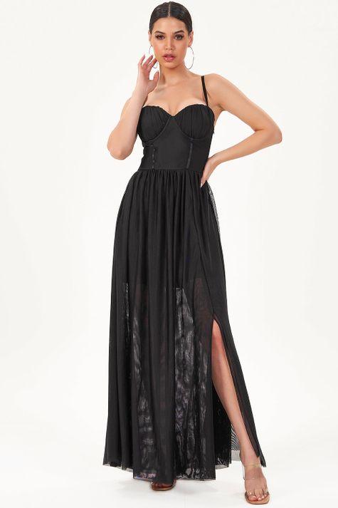 Vestido-Longo-Tule