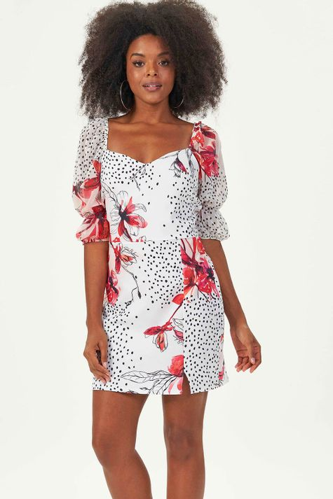 Vestido-Justo-Floral-Dots