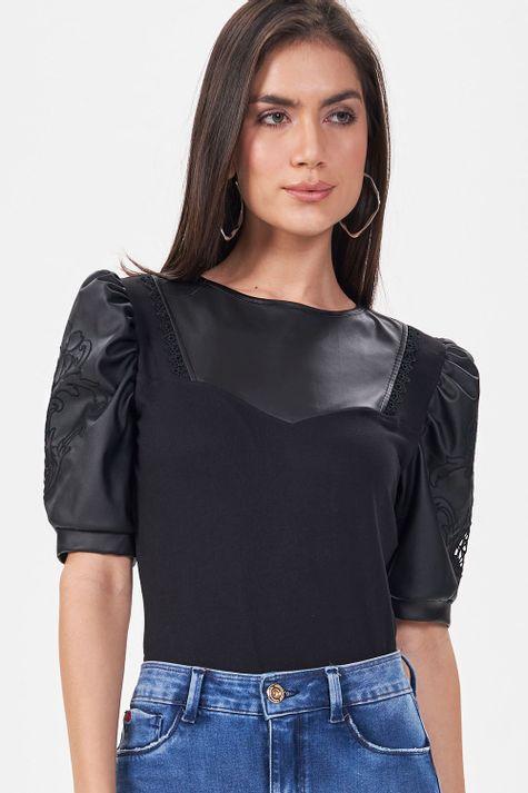 T-shirt-Couro-Luxo