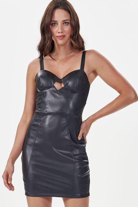 Vestido-Justo-Couro
