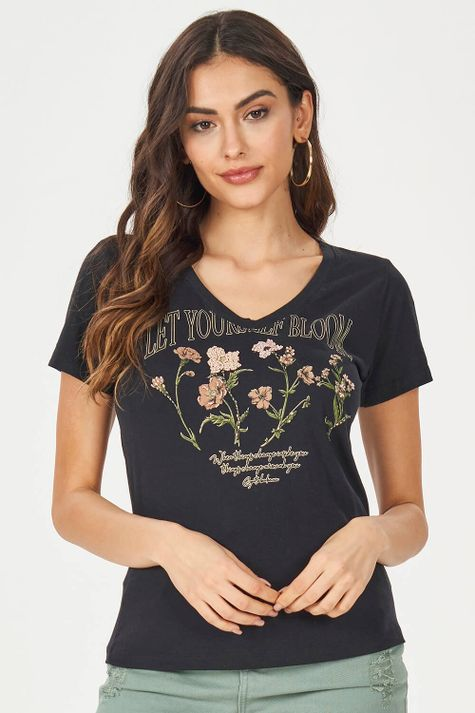 T-Shirt-Bordado